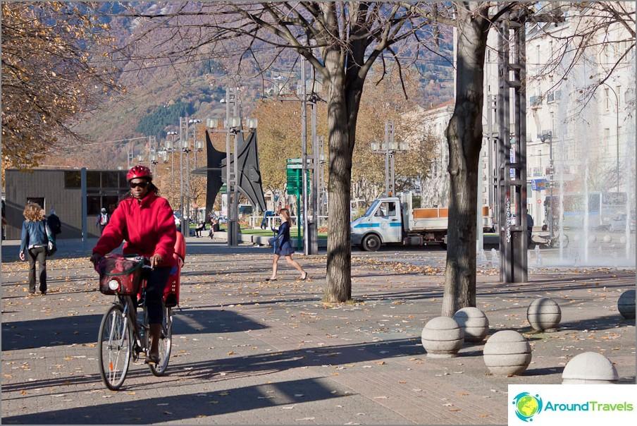 Grenoble-pyöräilijä