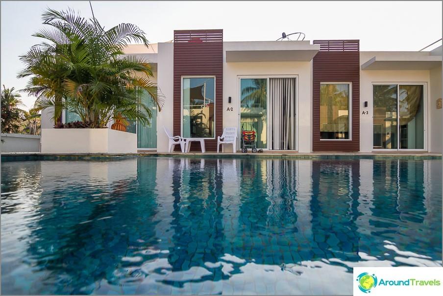 Тристаен апартамент с кухня и басейн за 2000 бата
