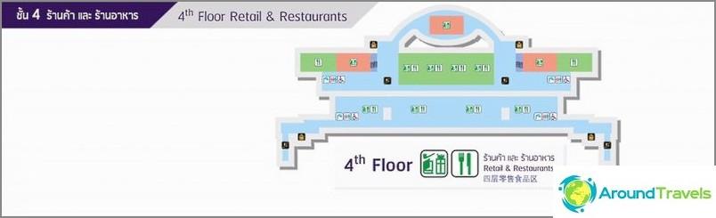 Четвърти етаж - магазини и ресторанти