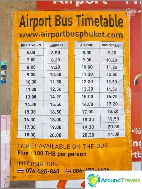 Разписания на автобуси от летище Пукет