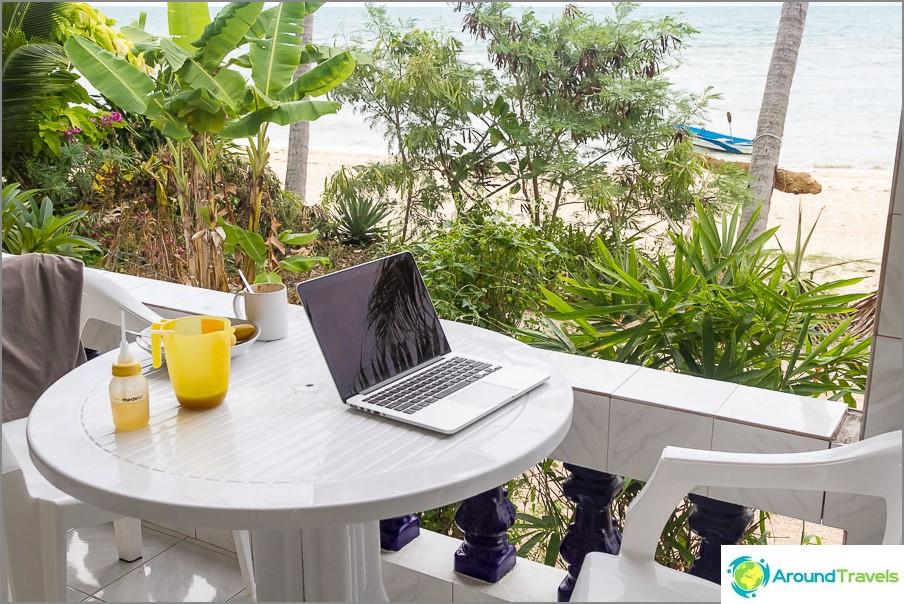 Работно място на Blogger :)
