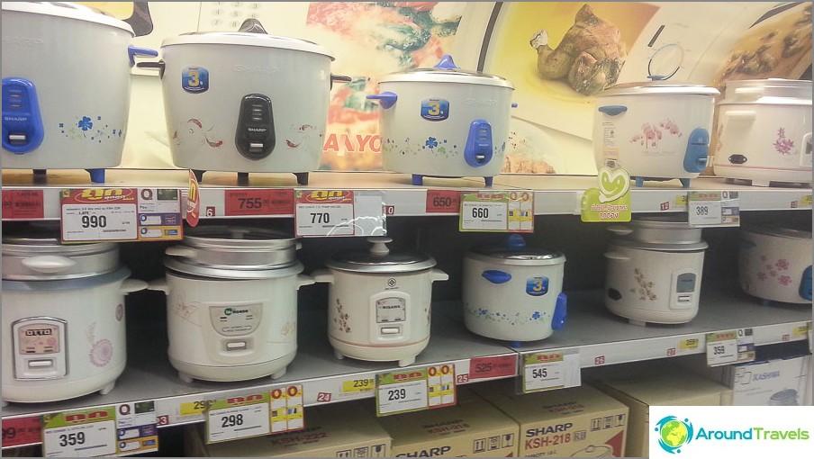Готварски печки за ориз да избирате от 300 рубли