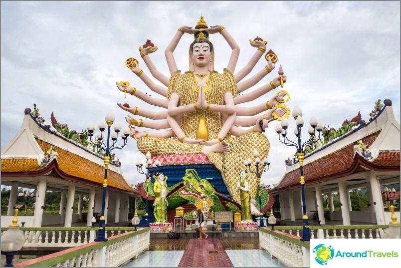 Tämä ei ole Buddha eikä Shiva. Tämä on kiinalainen jumalatar monen aseen Guan Yin.