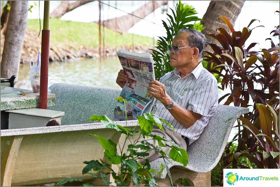 Voit lukea sanomalehteä