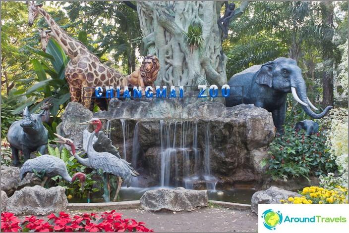 Sisäänkäynti Chiangmaiin eläintarhaan