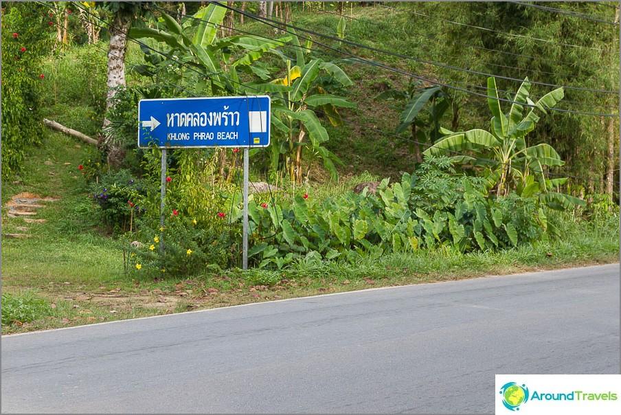 Tienviitta Klong Praon ranta