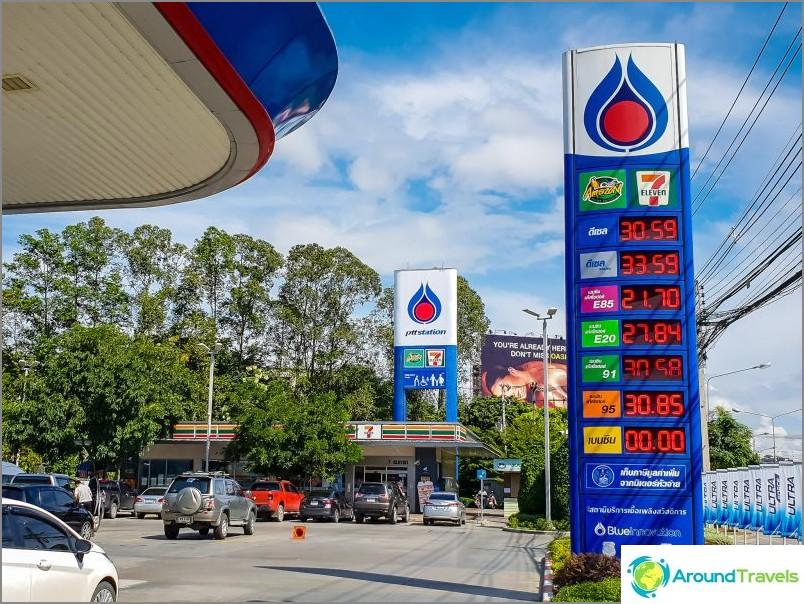 Kaasun hinnat Thaimaassa