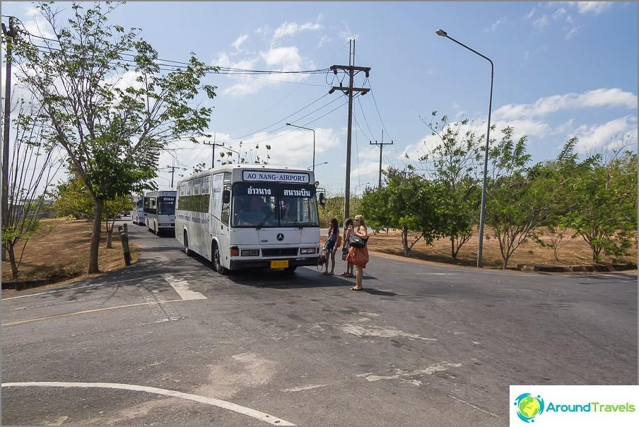 Bus Krabi Airport - Ao Nang