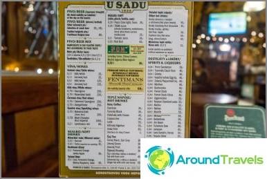 U Sadu -baari - viihtyisä pubi Prahassa
