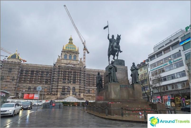 Вацлавски площад в Прага