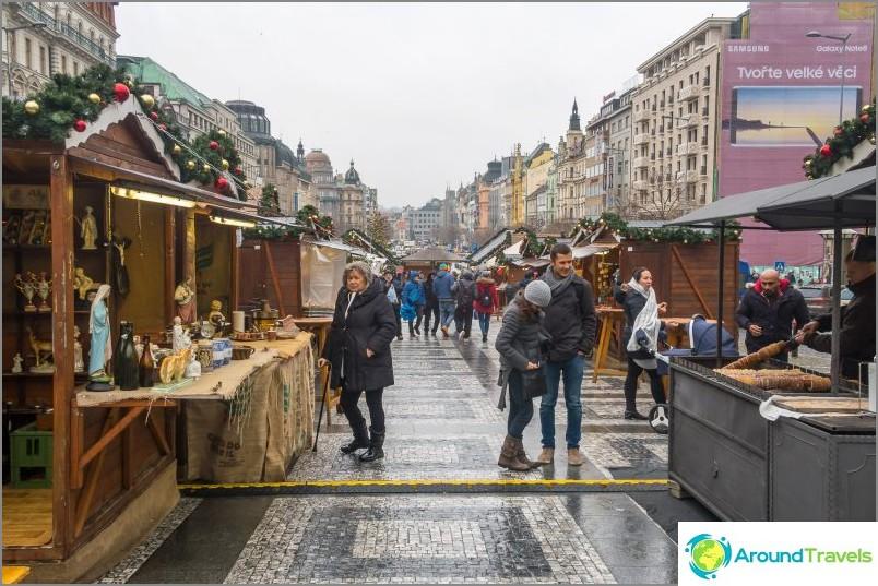 Вацлавски площад в Прага - исторически булевард
