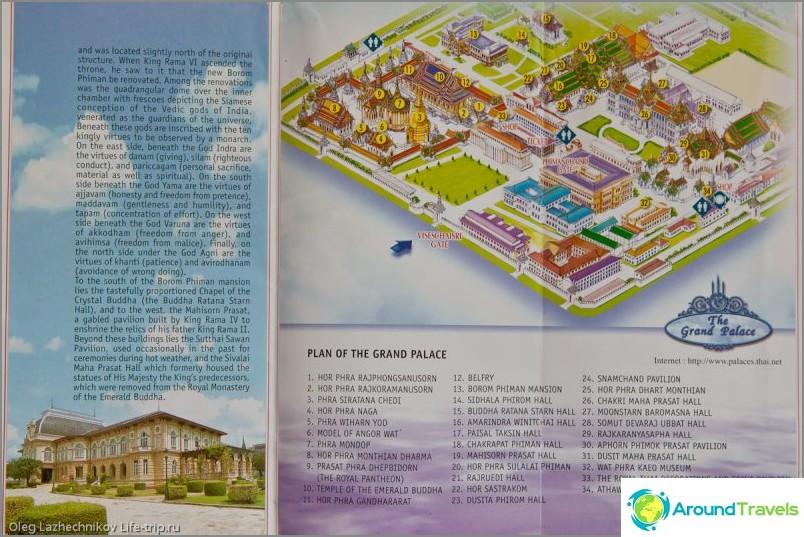 Kartta Bangkokin kuninkaallisesta palatsista Kartta Bangkokin kuninkaallisesta palatsista (napsautettavissa)