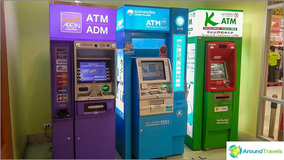 Как да теглите пари в Тайланд