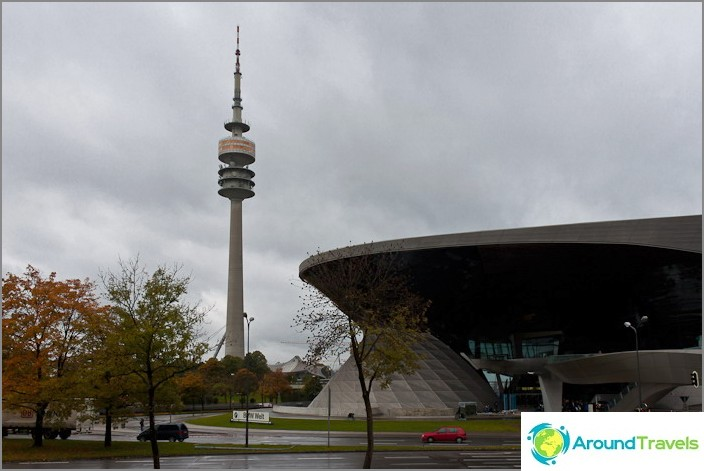 Olympiatorni ja BMW Welt Salon