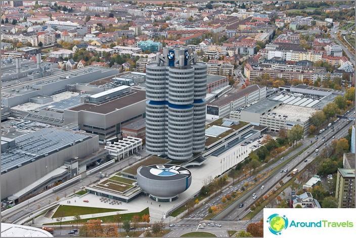 BMW-museo ylhäältä