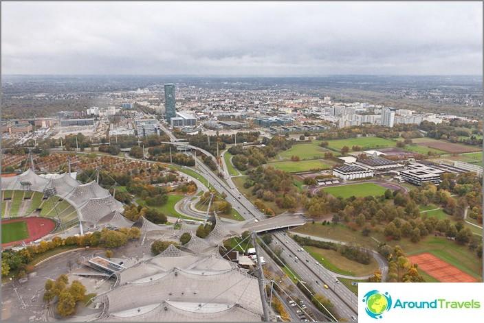 Münchenin kaupunki ylhäältä