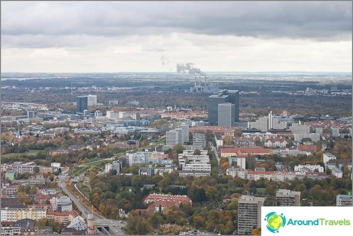Мюнхен град отгоре