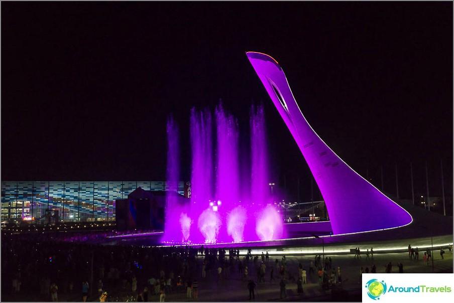Tanssiva suihkulähde olympiapuistossa