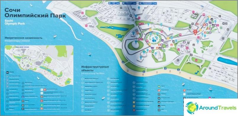 Kartta olympiapuistosta (napsautettavissa)