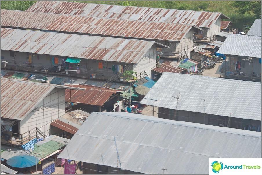 Slummat Bangkokissa lähempänä laitamia