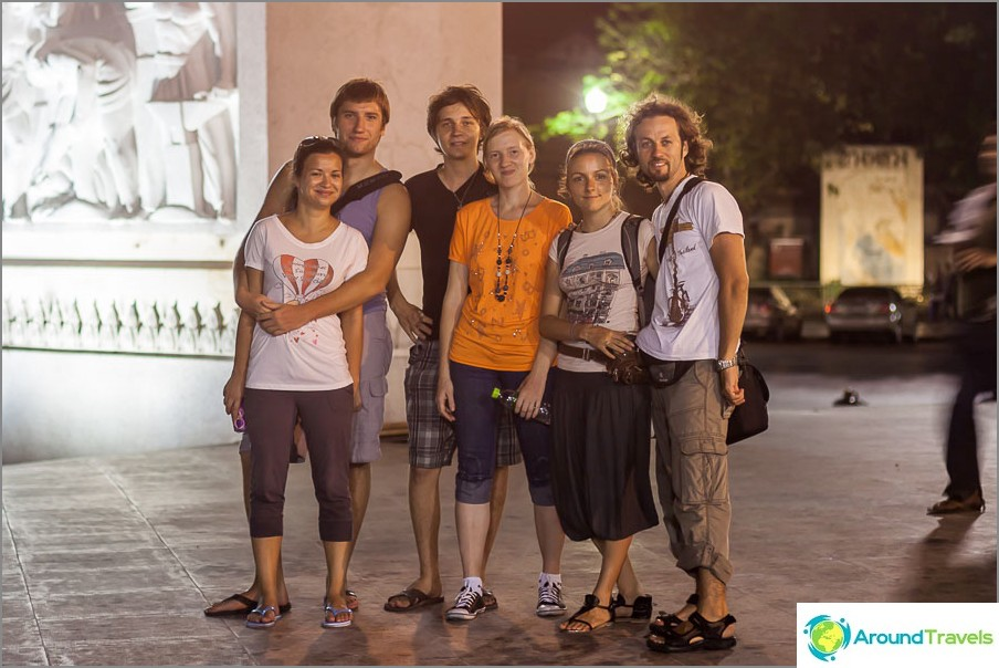 Tapasin ystäviä Bangkokissa