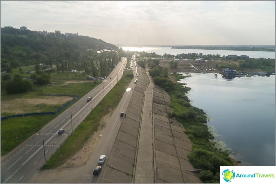 Volgan rannikko ui alapuolella