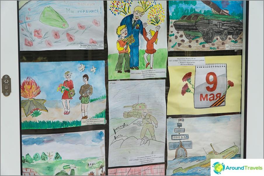 Lasten töiden näyttely 9. toukokuuta