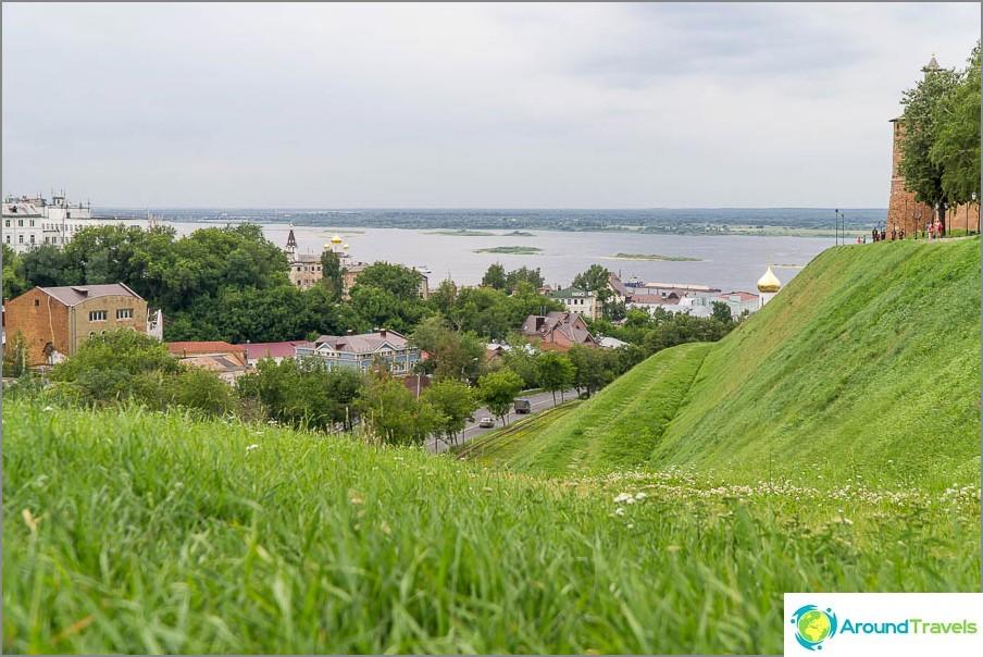 Нижни Новгород, гледка към Волга от конгреса на Зеленски