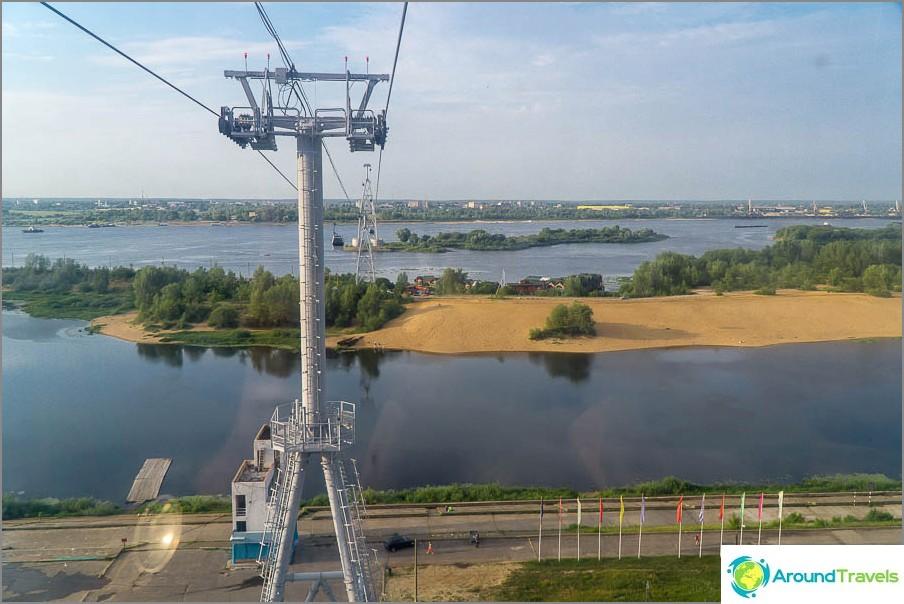 Въжена линия в Нижни Новгород - изглед към Бор
