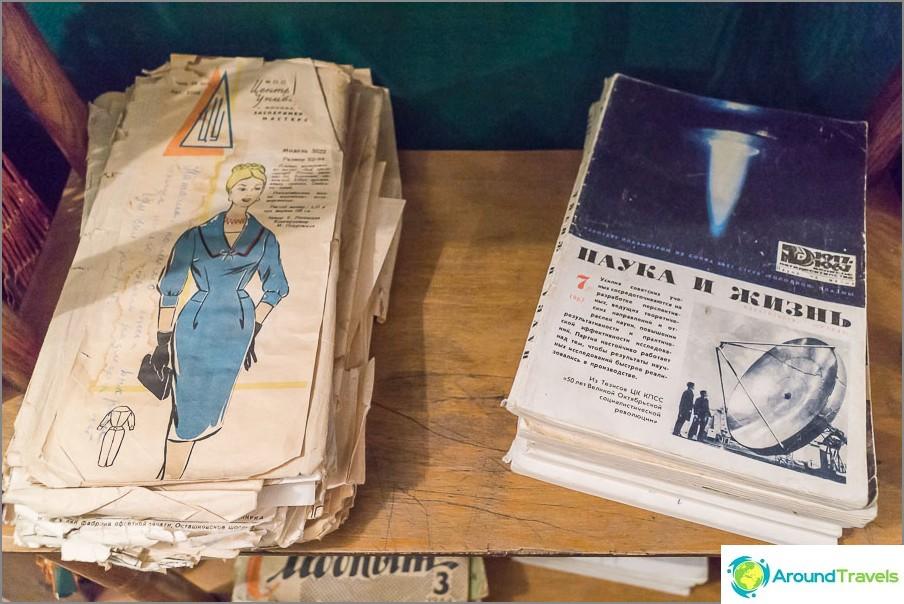 Tiede- ja elämälehdet maalaistallamme kokonainen hylly