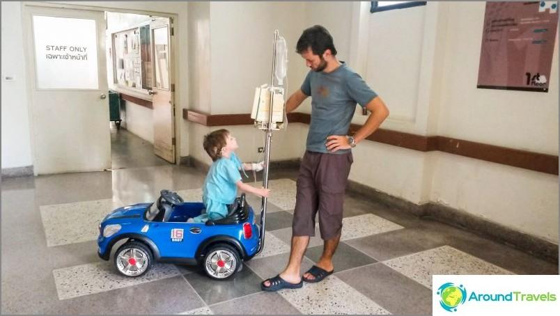 Joskus Dengue kulkee sairaalassa