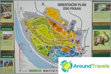 Prahan eläintarhan kartta