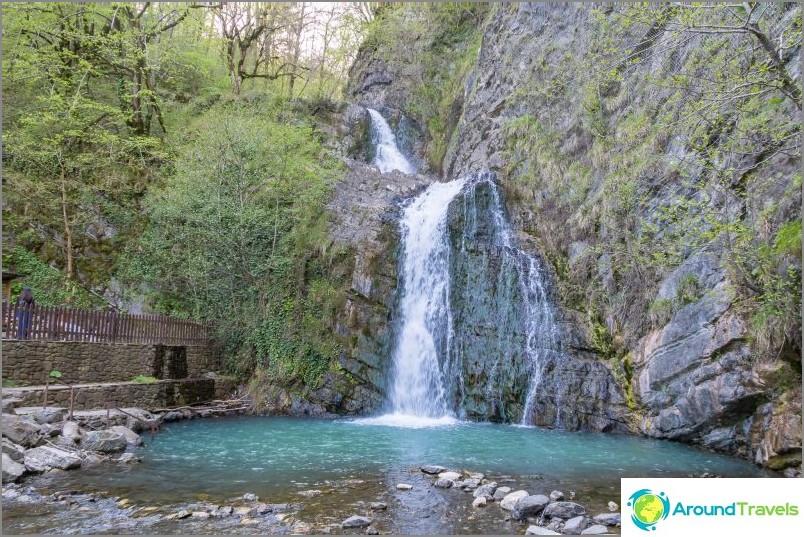 Змейковски водопад в Сочи