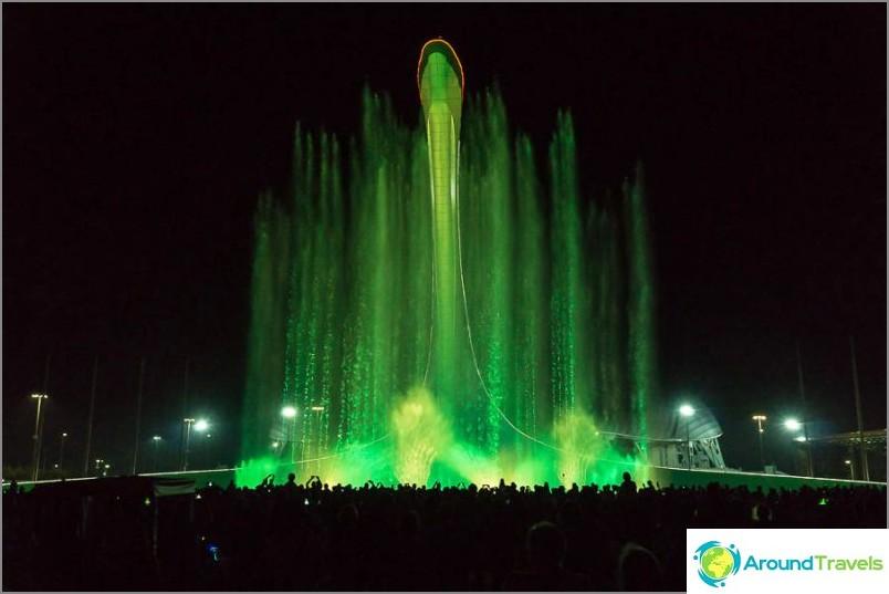 Laulava suihkulähde Sotšin olympiapuistossa