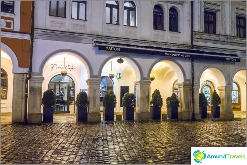 Porta-kahvila Liberecissä