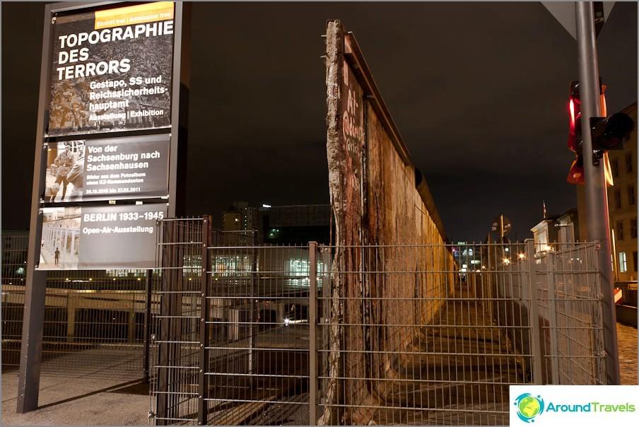 Останките на Берлинската стена.