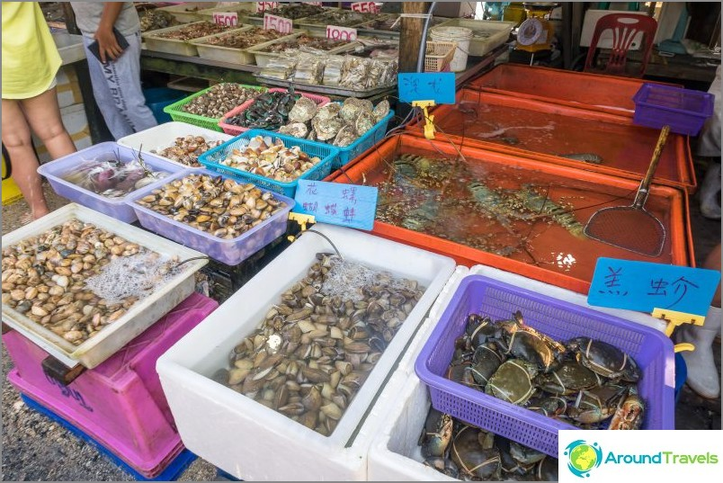 Phuketin kalamarkkinat - Ruoka ja nähtävyydet