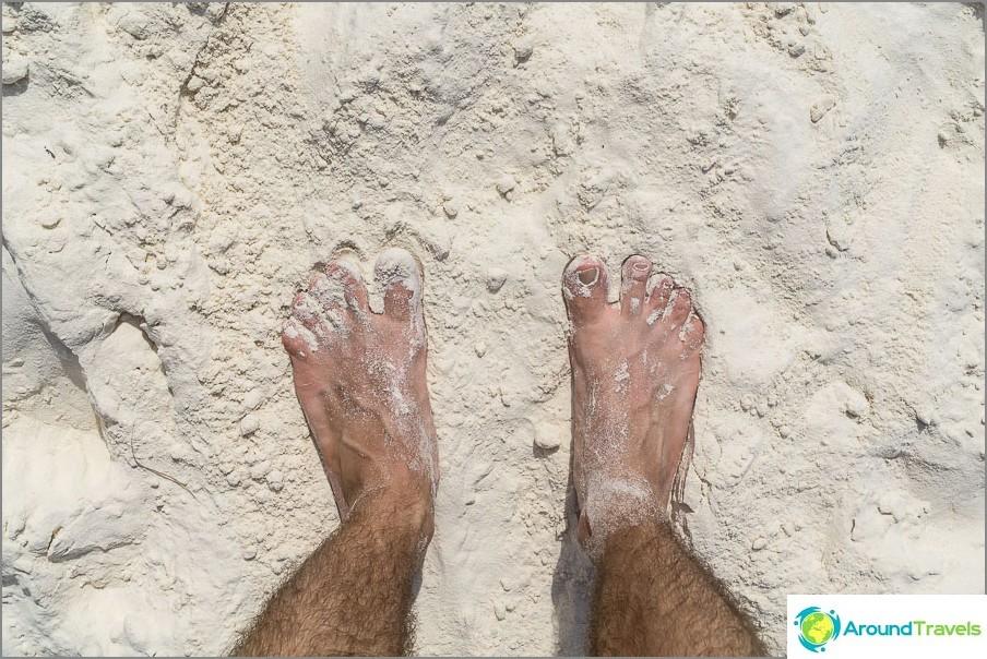 Valkoinen hieno hiekka, samanlainen kuin jauhot. Monien unelma?