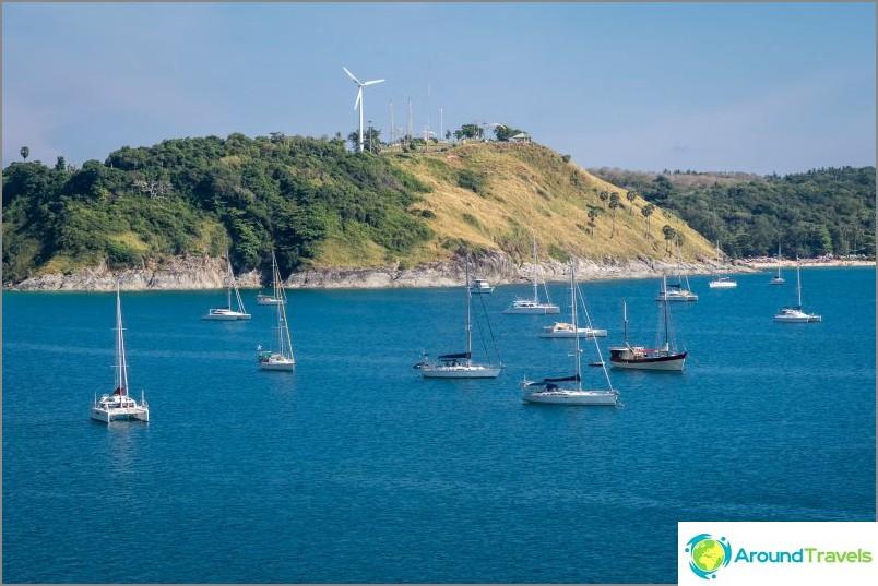 Näköalatasanne Phuketin tuulimylly - tuulimyllyn kohdalla