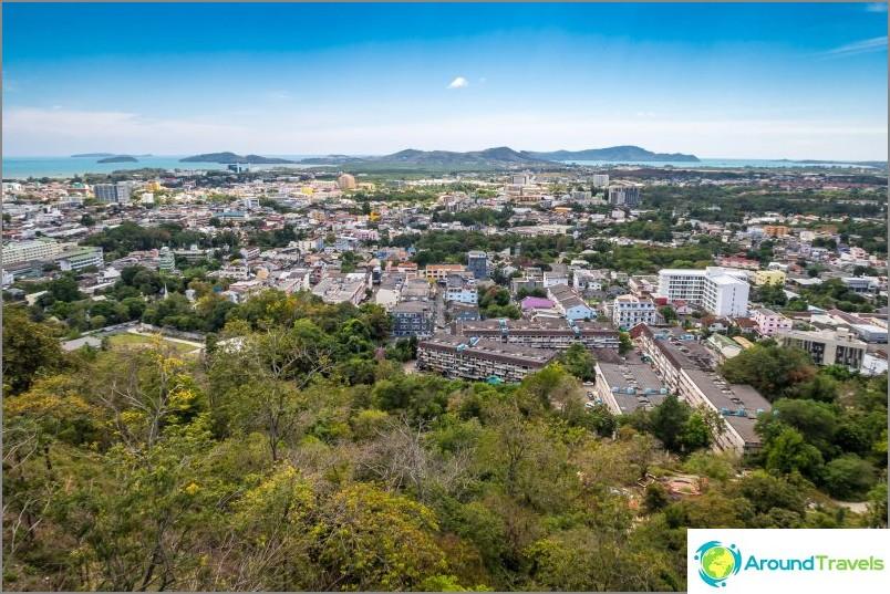 Изглед на град Пукет от височина