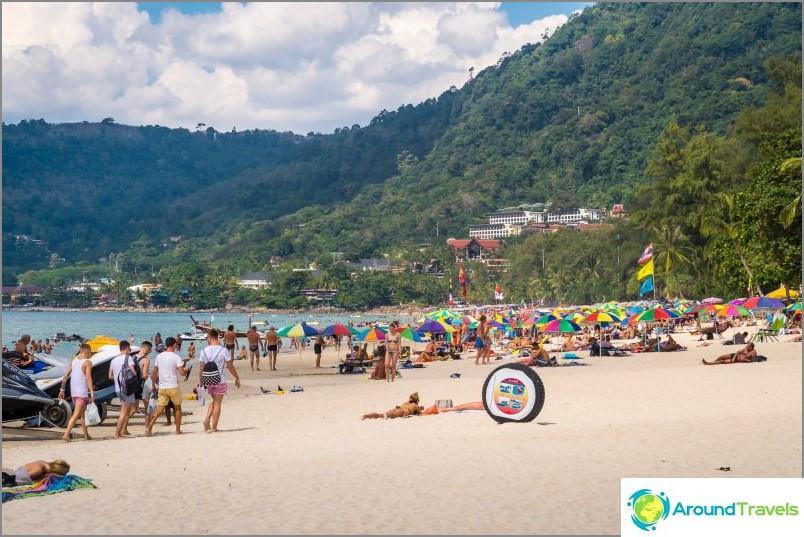 Patong Beach - kaikkein tungosta ja meluisin