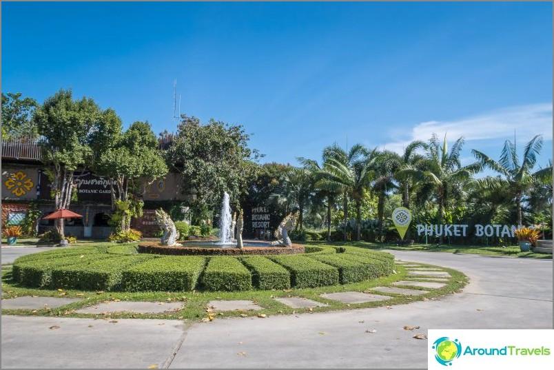 Edessä ja Phuketin kasvitieteellisen puutarhan lipputulot