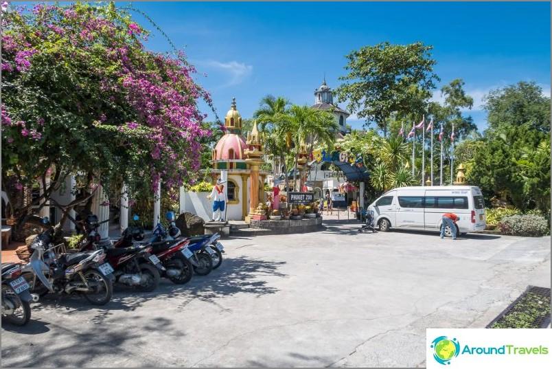 Sisäänkäynti Phuketin eläintarhaan