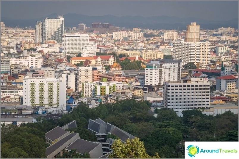 Näkymä kaupungin keskustaan näköalatasanne