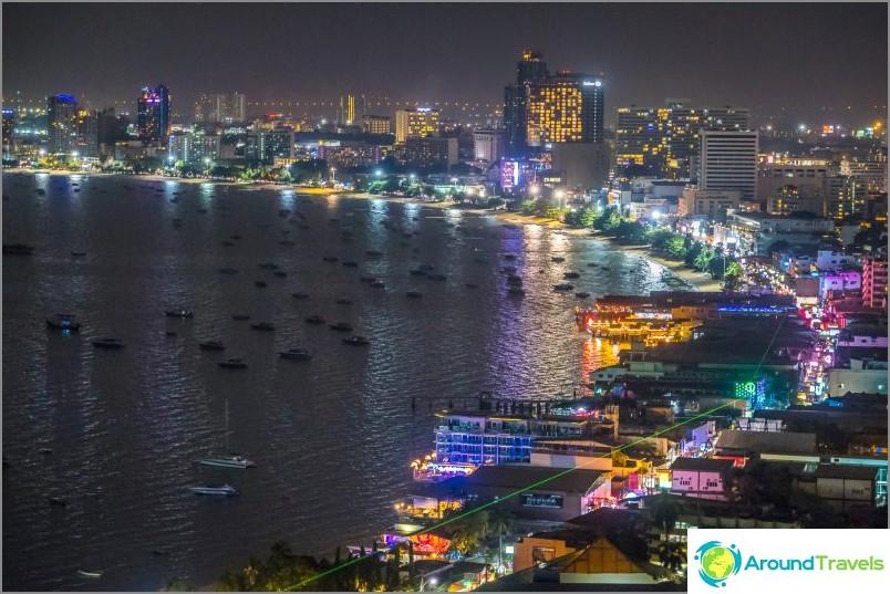 Näkymä näköalatasanne Pattayaan