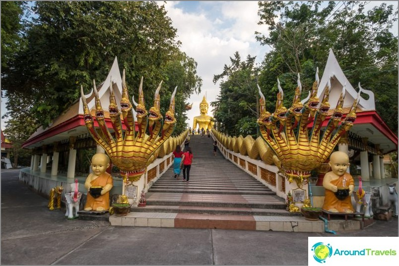 Portaikko Buddhan patsaisiin