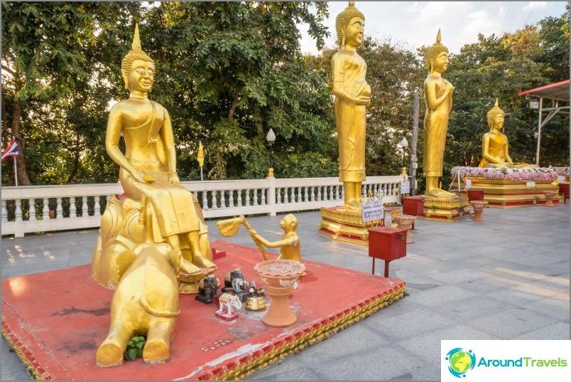Buddha-patsaita Wat Phra Yai -temppelissä