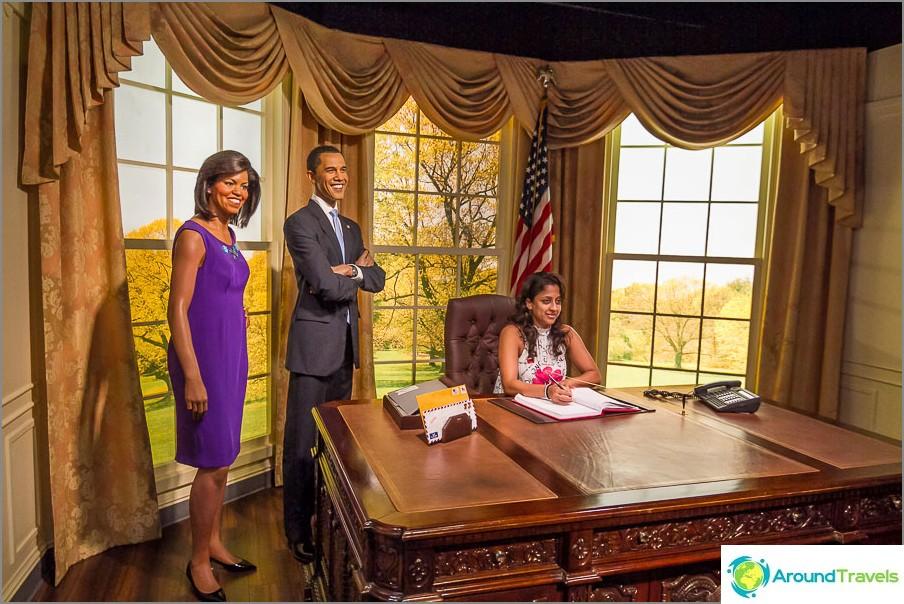 Jälkivalokuva Bark Obaman kanssa
