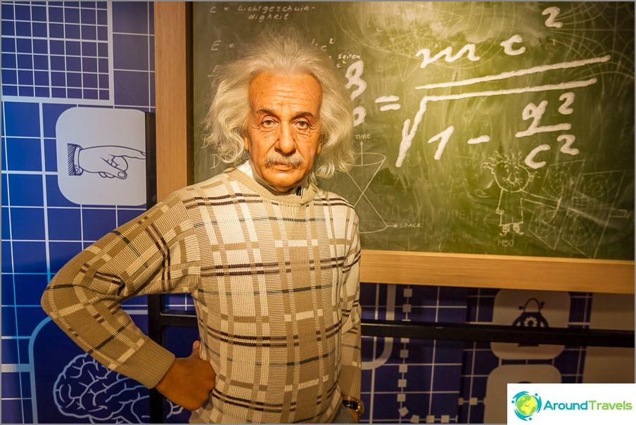 Einstein Madame Tussaudsissa