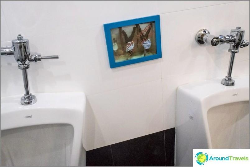 Miesten wc: ssä he pyytävät olemaan tekemättä mitään ylösalaisin